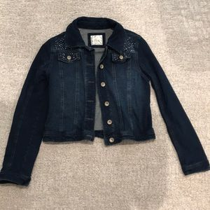 Justice girls size 16-18 denim jacket